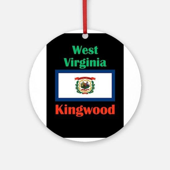 Kingwood West Virginia Round Ornament