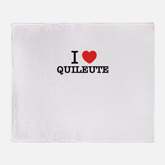 I Love QUILEUTE Throw Blanket
