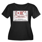 E=MC2 Women's Plus Size Scoop Neck Dark T-Shirt
