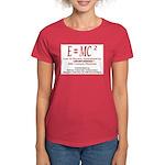 E=MC2 Women's Dark T-Shirt