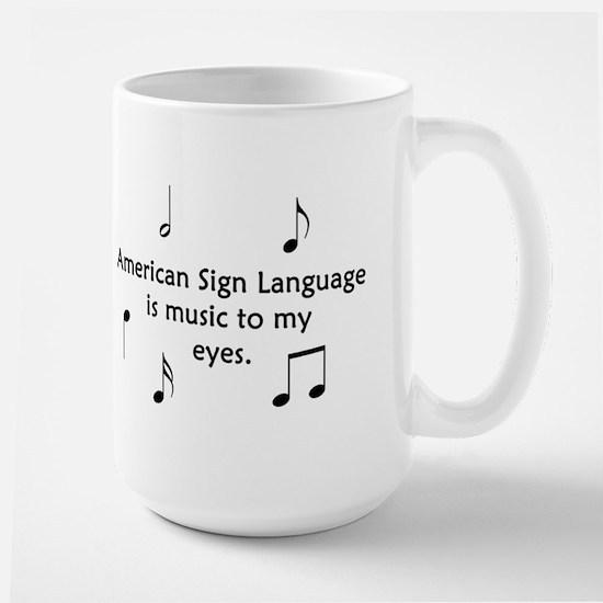 Deaf Music Large Mug