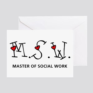 MSW Hearts (Design 2) Greeting Card
