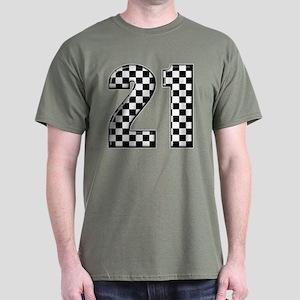 Race Car 21 Dark T-Shirt
