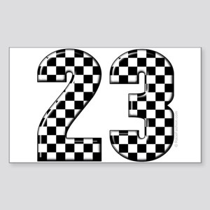 Auto Racing 23 Rectangle Sticker