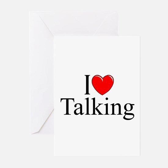 """I Love Talking"" Greeting Cards (Pk of 10)"