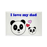 I LOVE MY DAD Rectangle Magnet (100 pack)