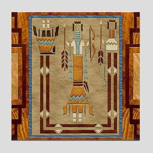 Harvest Moons Navajo Sand Painting Tile Coaster
