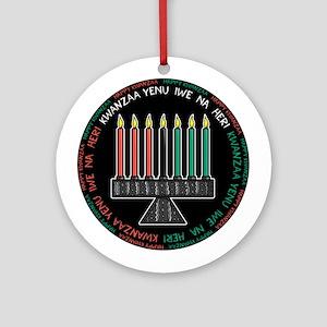 Kwanzaa Candles (Round) Ornament (Round)