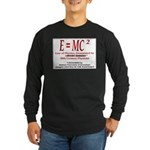 E=MC2 Long Sleeve Dark T-Shirt