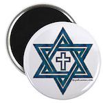 Star Of David & Cross Magnet