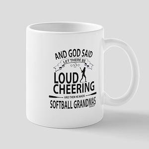 Softball Grandmas Cheering   GetYerGoat Mugs