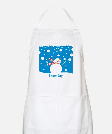 Snowman Snow Day BBQ Apron