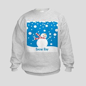 Snowman Snow Day Kids Sweatshirt