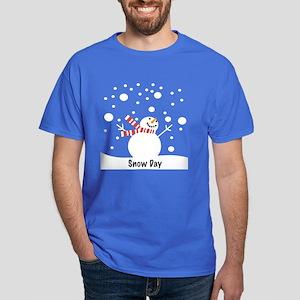 Snowman Snow Day Dark T-Shirt
