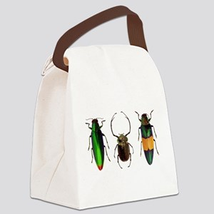 Colorful Insects Canvas Lunch Bag