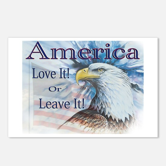 America Love It or Leave It Postcards (Package of