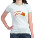 Powered By Cheesy Puffs Jr. Ringer T-Shirt