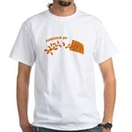 Powered By Cheesy Puffs White T-Shirt
