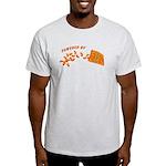 Powered By Cheesy Puffs Light T-Shirt