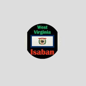 Isaban West Virginia Mini Button