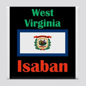 Isaban West Virginia Tile Coaster