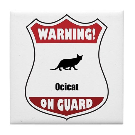 Ocicat On Guard Tile Coaster