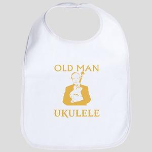 Old man with a ukulele Bib