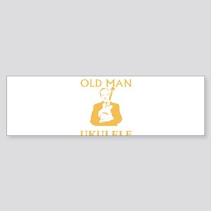 Old man with a ukulele Bumper Sticker