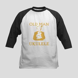 Old man with a ukulele Baseball Jersey