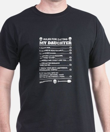 Rules For Dating My Daughter Funny T-Shirt