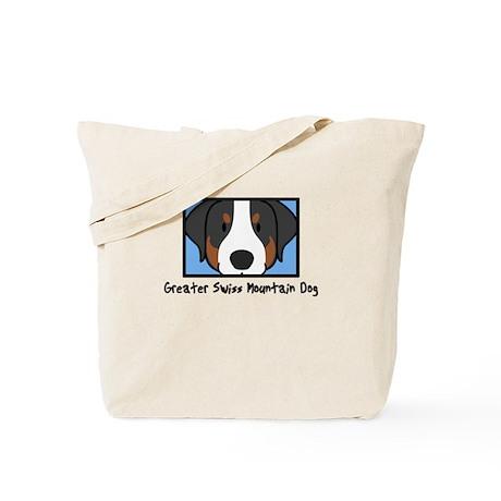 Anime Greater Swiss Mountain Dog Tote Bag