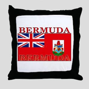 Bermuda Flag Throw Pillow