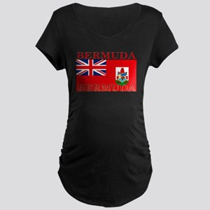 Bermuda Flag Maternity Dark T-Shirt