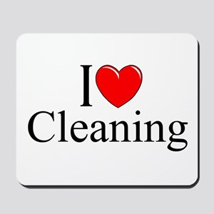 """I Love Cleaning"" Mousepad"