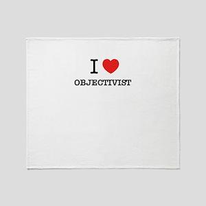 I Love OBJECTIVIST Throw Blanket