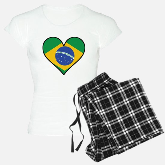 Brazilian Flag Heart Pajamas