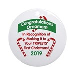 First Triplets Ornament (Round)