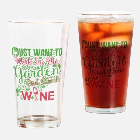 Funny Gardening Drinking Glass