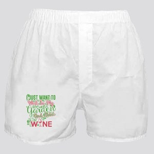 Gardening and wine Boxer Shorts