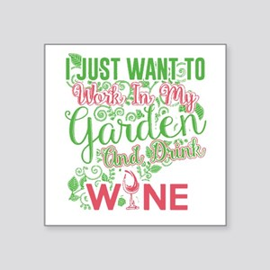 Gardening and wine Sticker