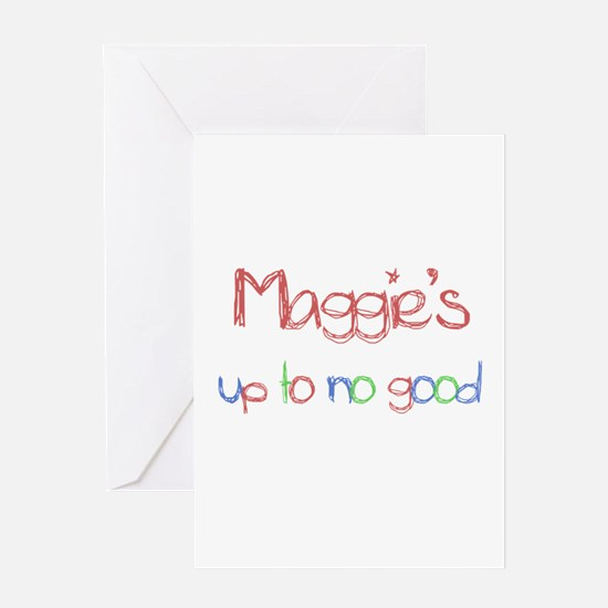 Maggie's Up To No Good Greeting Card