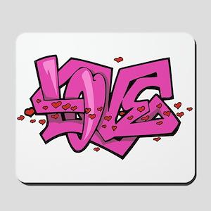 Graffiti Love Mousepad