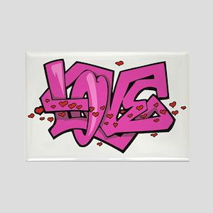Graffiti Love Rectangle Magnet
