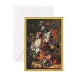 Flowers-Huysum Age-61 Greeting Cards