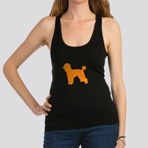Poodle Orange 1 Dark Racerback Tank Top