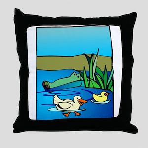 Alligator_1 Throw Pillow