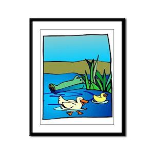 Alligator_1 Framed Panel Print