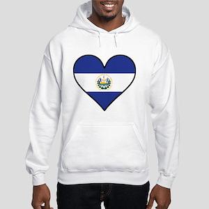El Salvadorian Flag Heart Sweatshirt