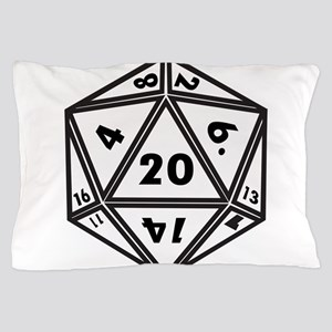 D20 White Pillow Case