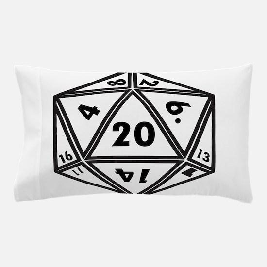 D20 White Pillow Case